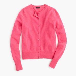Hot pink J.Crew cardigan